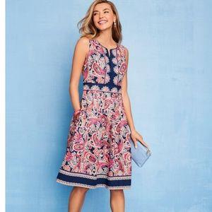 Talbots Paisley Fit & Flare Dress